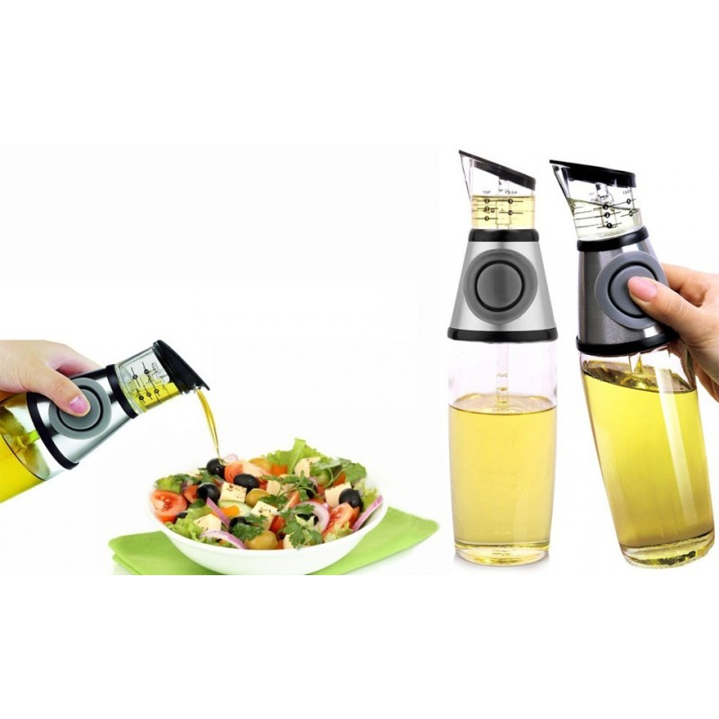 Kit olio e aceto con dispenser dosatore a pressione 500 ml