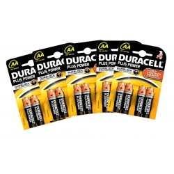 Pack 32 , 52 , 76 o 100 batterie Duracell LONG LASTING POWER AA LR6