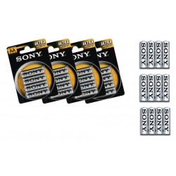 Pack 16, 32 , 52 , 76 o 100 batterie Sony NEW ULTRA AA R6 stilo