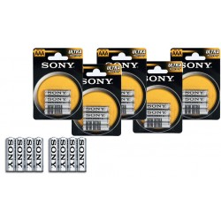Pack 16, 32 , 52 , 76 o 100 batterie Sony NEW ULTRA AAA R03 mini stilo