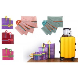 Organizzatore per trolley/valigie 4 pz varie misure e colori