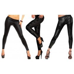 Pack 3 leggings in pelle vari modelli CLASSIC RINTAGLI PIZZO