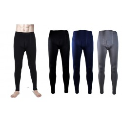 Pack 3 leggings per uomo termici felpato con patta vari colori