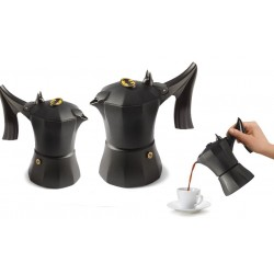 Caffettiera Accademia Mugnano 1 o 3 tazze design BATMAN made in Italy