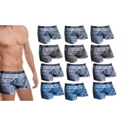 Pack 12 boxer uomo effetto jeans modello Rédiger varie tg