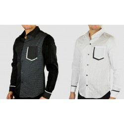 Camicia da uomo modello Dual vari colori e taglie